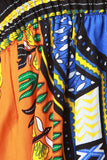 Empire Dashiki Print Smock Tube Dress
