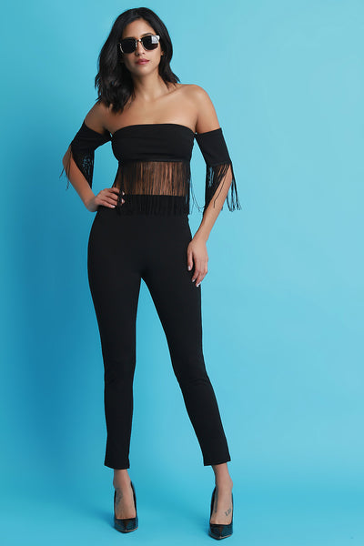 Bardot Fringe Tassel Two Piece Matching Set