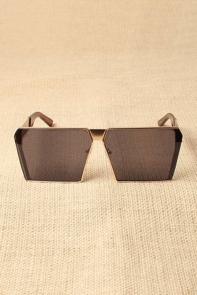 Metal Square Frame Sunglasses