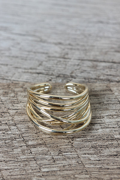 Wire Wrapped Crossover Ring