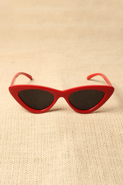 Retro Narrowed Cat Eye Sunglasses
