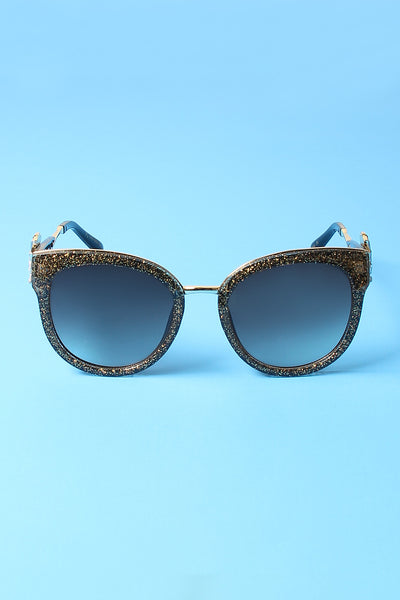 Tinted Round Eye Jewel Sunglasses