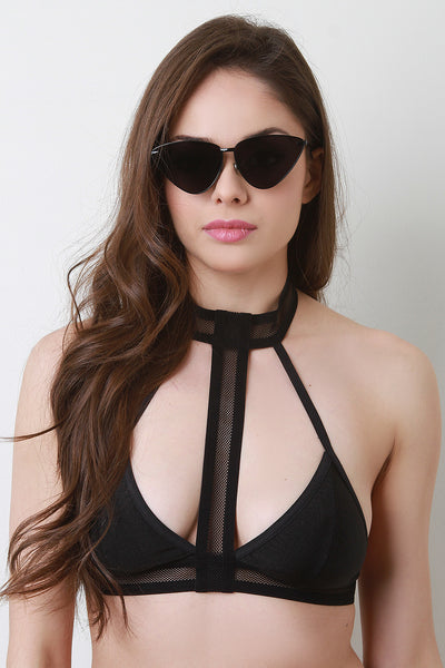 Angled Cat Eye Sunglasses