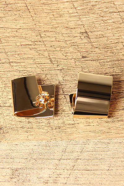 Folded Statement Stud Earrings