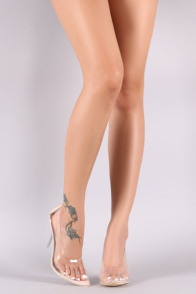 Transparent Pointy Toe Stiletto Pump