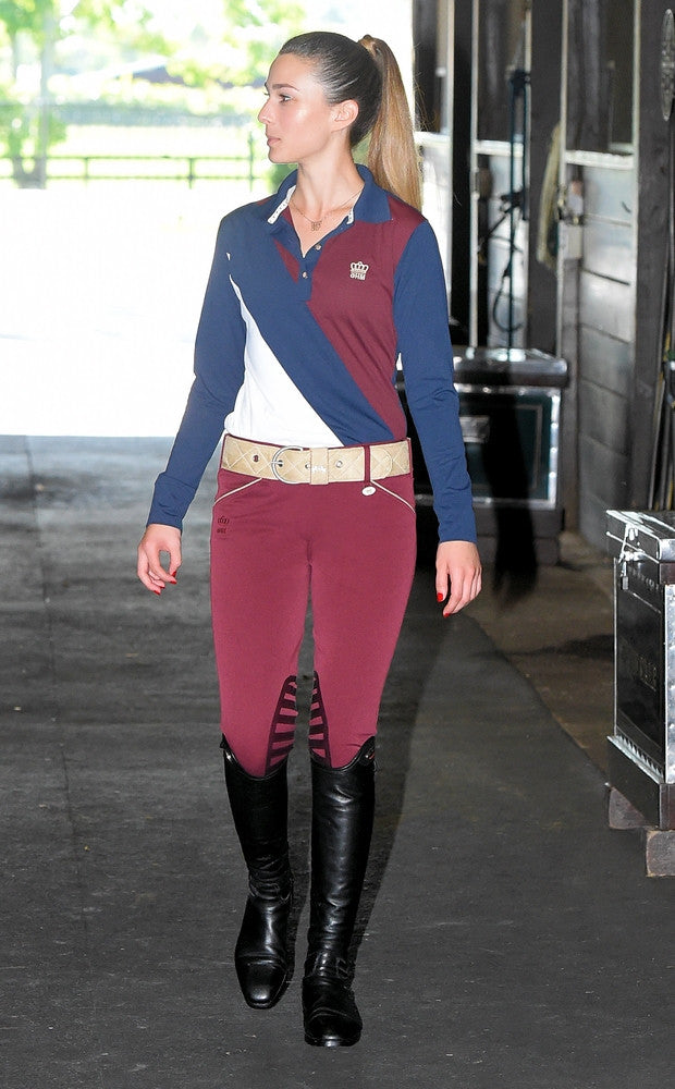 George H Morris Ladies Add Back Knee Patch Breeches