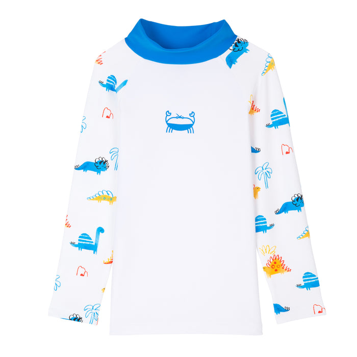 T-shirt de bain Anti UV imprimé Dinosaure Tom