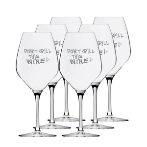 Don't spill this wine! 39cl Glass | 6-Pack
