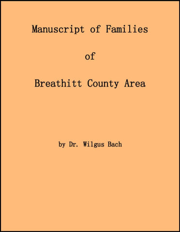 Manuscript of Families of Breathitt County Area--DVD