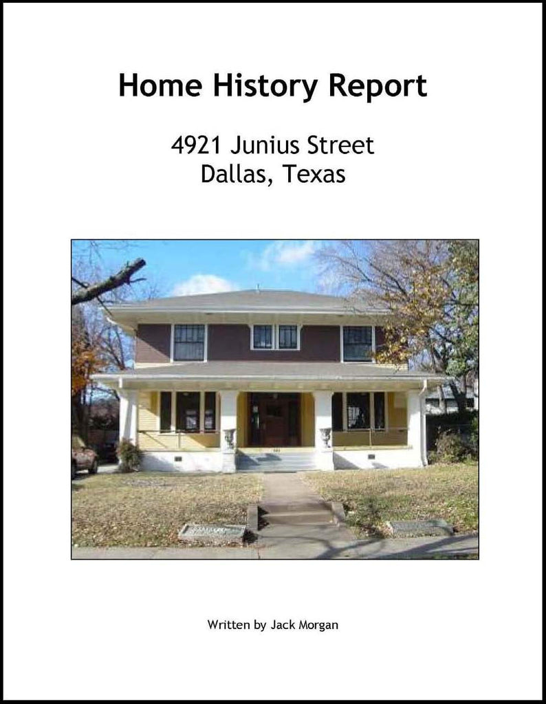 Home History Report