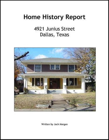 Home History Report--DVD