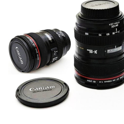 Mug/Cup SLR Camera Lens (With cover Lid) - HonestMonkeys