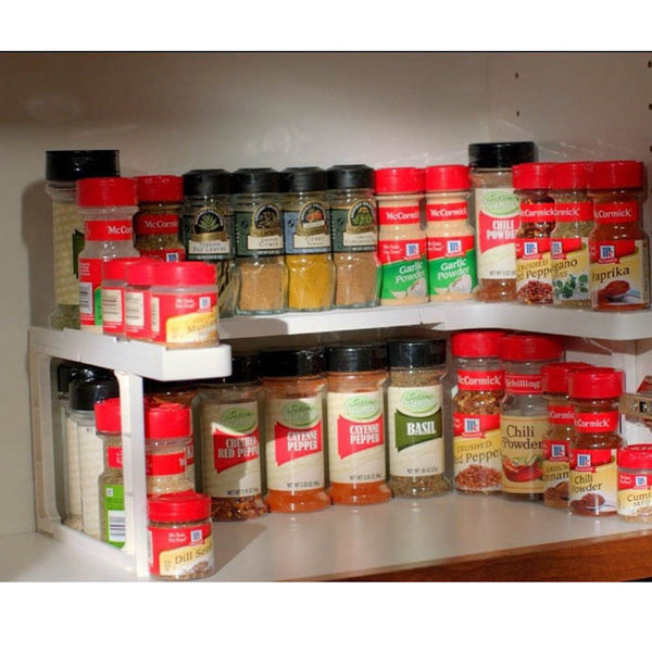 Spice Shelf Rack and Stackable Organizer - HonestMonkeys