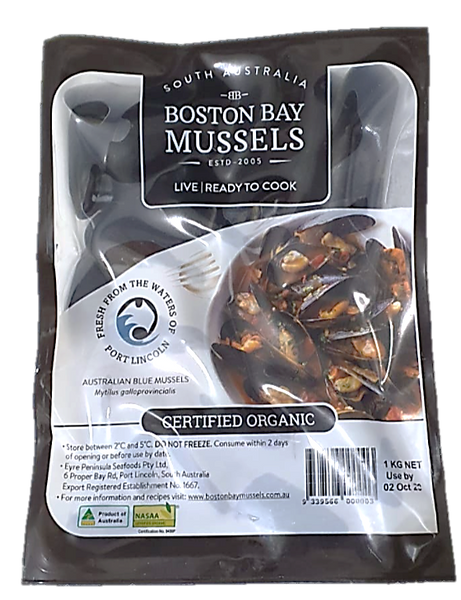 Buy Live Organic Australia Mussels Online for Delivery - Evergreen Seafood Singapore