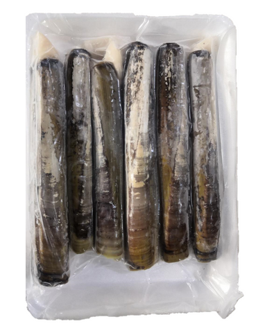 Buy Frozen Scotland Razor Clams Online for Delivery - Evergreen Seafood Singapore