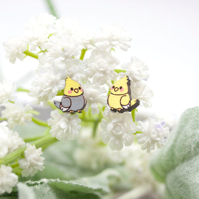 Cockatiel Bird Earrings - IttyBittyFox