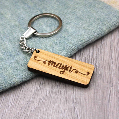 Personalised Name Keyring - IttyBittyFox
