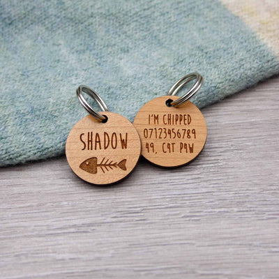 Fishbone Cat Tag - IttyBittyFox
