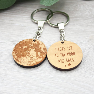 I Love You to the Moon and Back Keyring - IttyBittyFox