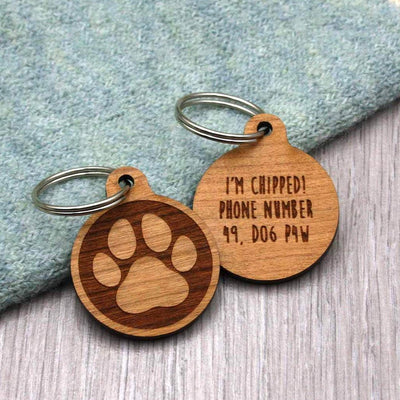 Paw Print Personalised Dog Tag (No Name) - IttyBittyFox