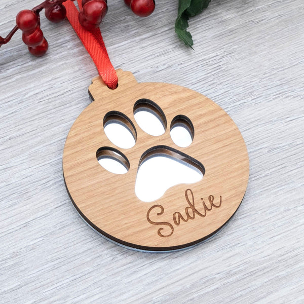 Paw Print Christmas Bauble