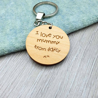 Personalised Handwriting Keyring - IttyBittyFox