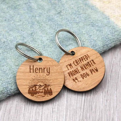 Adventure Theme Pet Tag (Name Optional) - IttyBittyFox