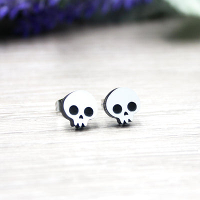 Cute Skull Earrings - IttyBittyFox