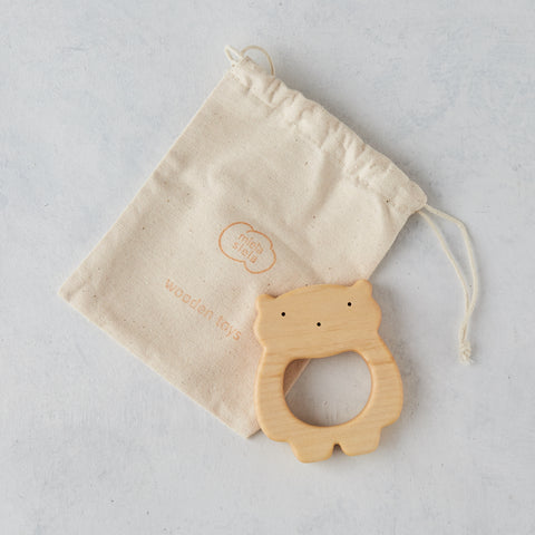 WOODEN TEDDY BEAR TEETHER