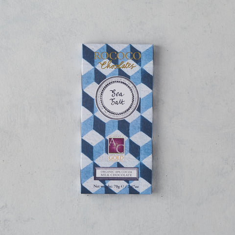 SEA SALT ORGANIC MILK CHOCOLATE BAR