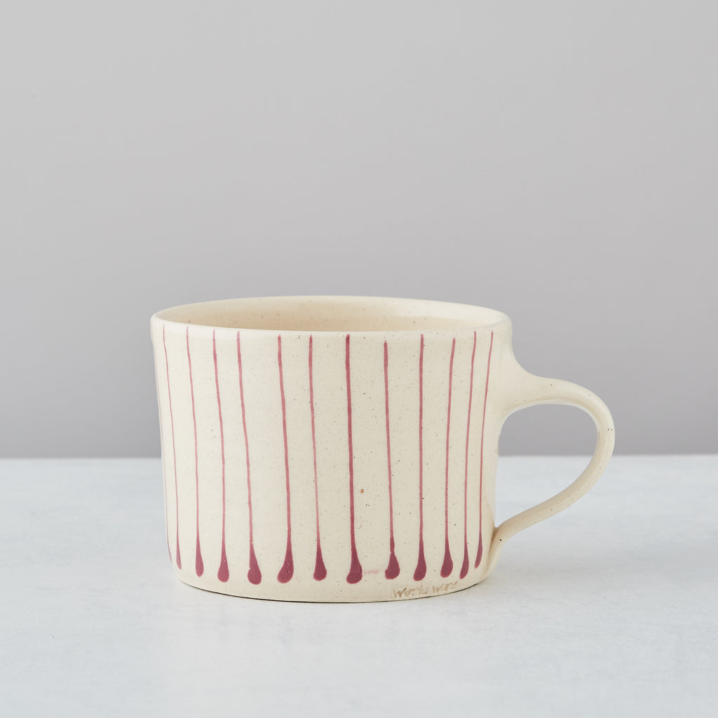 PINK STRIPE SQUAT MUG