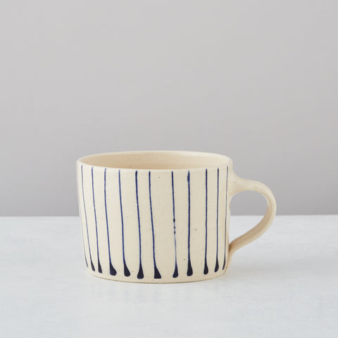 BLUE STRIPE SQUAT MUG