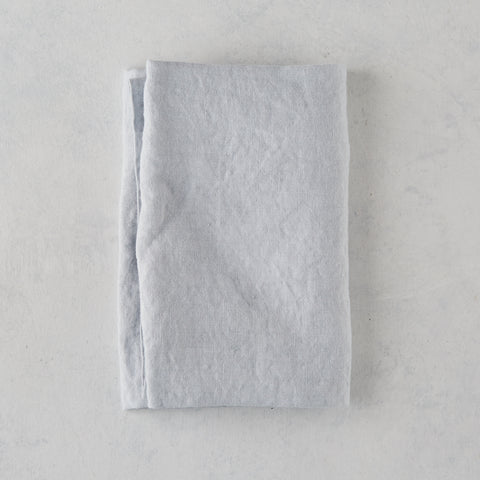 BLUE LINEN HAND TOWEL