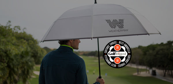 Weatherman presented with 2018 Golf Digest Editors' Choice Award for Best Umbrella