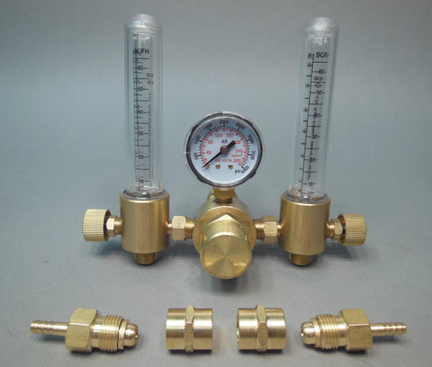 HTP America® Dual Outlet Flowmeter w/Gas Purge