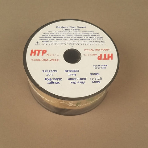 "HTP America® .030"" & .035"" E71T-11 Flux-Cored MIG Welding Wire, 2 Lb, 4"" Spool, Mixed 8-Pack"