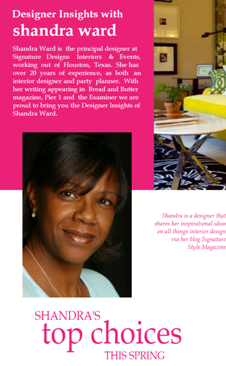 Designer Insights with Shandra Ward