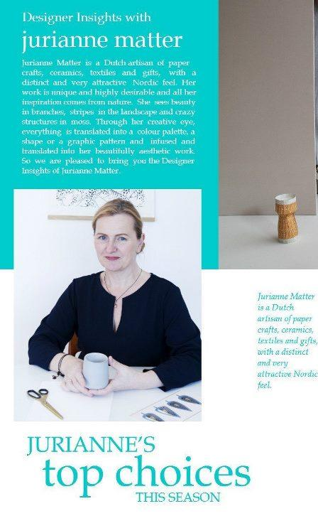 Designer Insights - Jurianne Matter