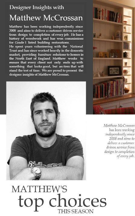 Designer Insights with Matthew McCrossan