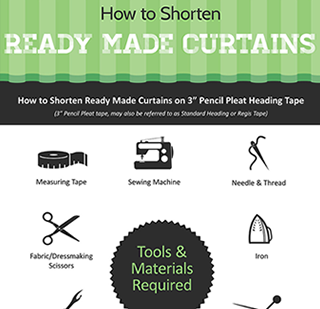 How To Shorten Ready Made Curtains