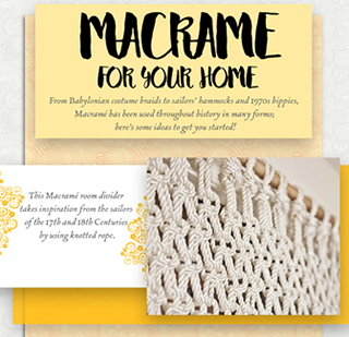 Macrame For Your Home