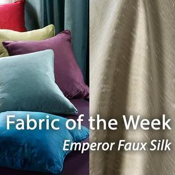 Emperor Faux Silk - Friday's Fabulous Fabric of the Week!