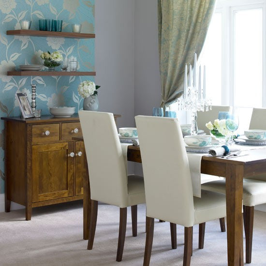 Dining room contemporary ideal home video terrys fabrics for Duck egg dining room ideas