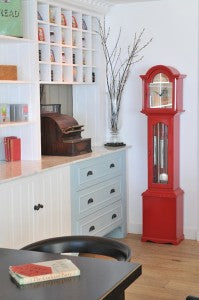 Living with Colour Red Clock