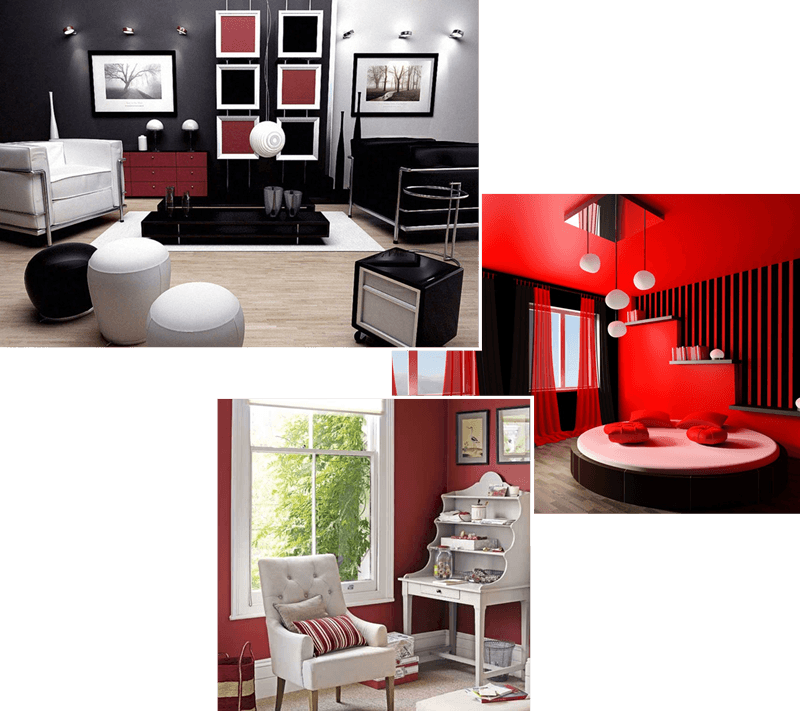 Living with Colour Red Interior Design