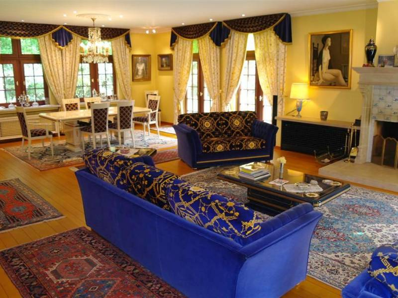 Royal Blue Settee