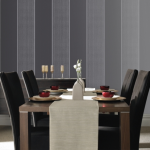 Stripes in a dining room