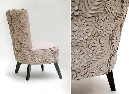 Flower petal chair design