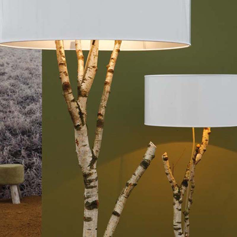 Lamps made from tree branches