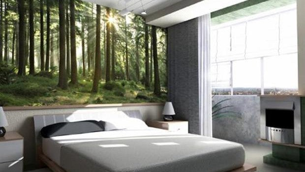 Bedroom forest artwork